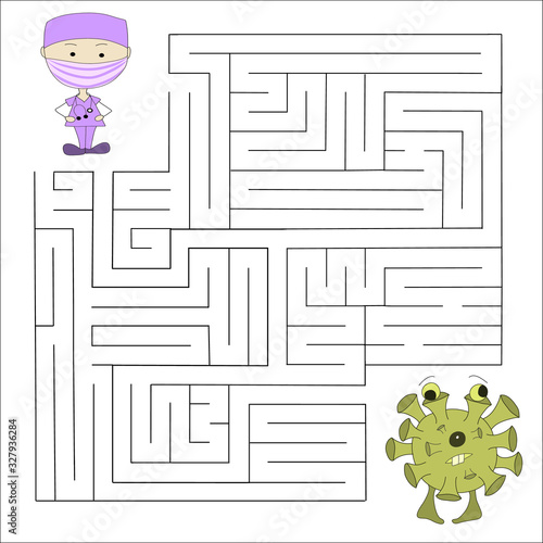 Logical puzzle game for children and adults Canvas Print