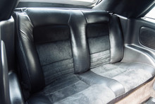 Rear Leather Seats Of A Coupe ...