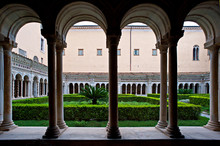 The Courtyard Of The Basilica...