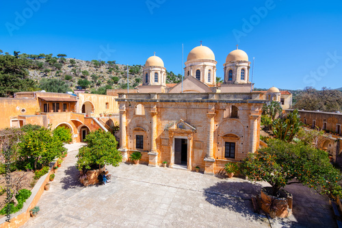 Photo Agia Triada Monastery or the Monastery of Agia Triada Tsangarolon is a Greek Orthodox monastery in the Akrotiri peninsula in the Chania regional unit, Crete, Greece