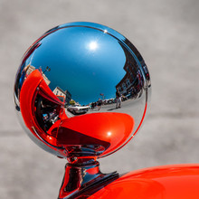 Red Hot Rod Car Reflected In C...