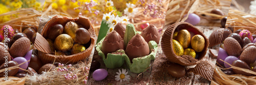 Fototapeta Bandeau_Chocolats_Paques