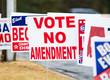 canvas print picture - Vote No Amendment