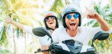 Happy Smiling Couple Travelers...