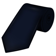 Isolated Rolled Tie Image