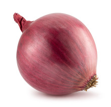 Purple Onion Isolated On A Whi...