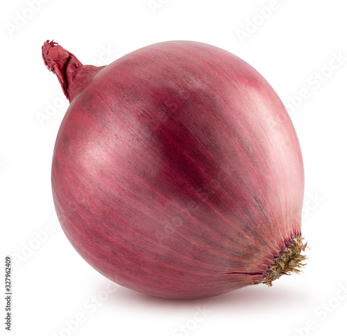 Foto purple onion isolated on a white background