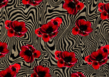 Abstract Beautiful Floral Patt...