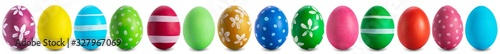 Obraz easter egg collection isolated on white - fototapety do salonu