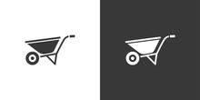 Wheelbarrow. Isolated Icon On ...