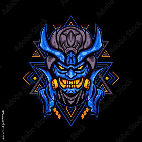 Vászonkép Blue Demon Toxic Mask