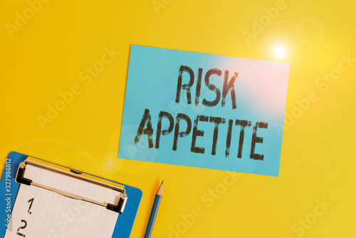 Conceptual hand writing showing Risk Appetite Canvas Print