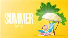 Yellow Banner Summer Time. Dec...