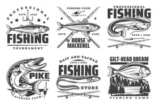Fishing Icons And Fisherman Cl...