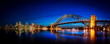 Panorama Of Sydney With Harbor...