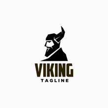 Flat Viking Logo Design Inspir...