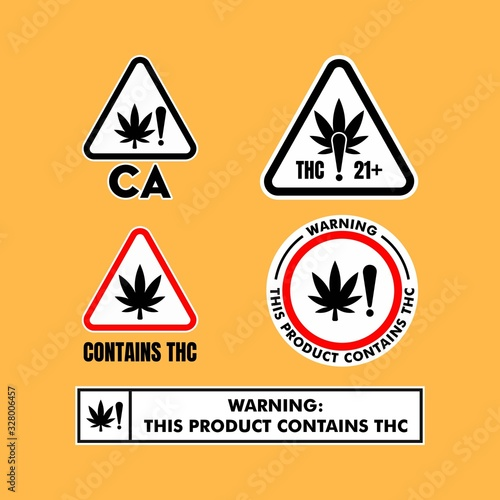 California Cannabis Warning Signs vector Canvas-taulu