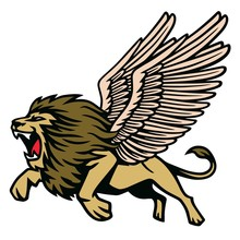Winged Lion Heraldic Flying R...