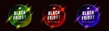 Set Of Black Friday Sale Vecto...