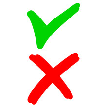 Hand Drawn Of Green Checkmark ...