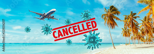 Foto Cancellation of flights by the Coronavirus.