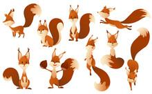 Cute Cartoon Squirrels. Sweet ...