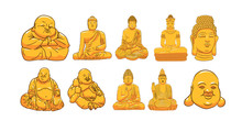 Buddha Vector Set Collection Graphic Clipart Design