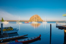 Panorama Of Boats In Morro Bay...