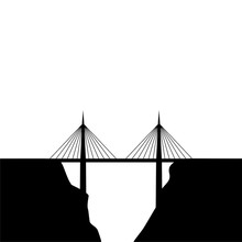 Simple Bridge Icon Isolated On...