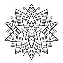 Simple Star Mandala On White I...