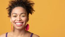 Portrait Of Black Girl Smiling...