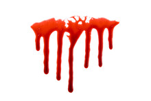 Dripping Blood Isolated On Whi...