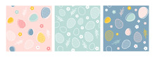 Easter Seamless Patterns. Spring Pattern For Banners, Posters, Cover Design Templates, Social Media Stories Wallpapers And Greeting Cards.