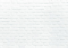 White Brick Wall Vector Backgr...