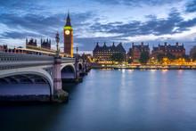 Westminster Bridge And Big Ben In London