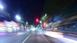 Driving Hyperlapse POV Los Angeles Night Cityscape