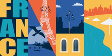 France Vector Banner, Illustra...