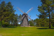 Big Retro Wooden Wild Mills
