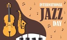 Flat International Jazz Day Background Vector