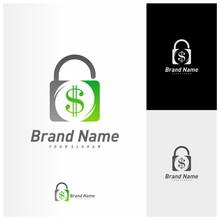 Money Lock Logo Vector Templat...