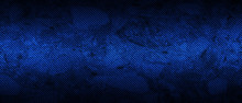 Blue And Black Carbon Fibre Background And Texture.