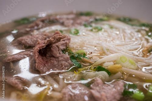 Photo ベトナムの牛肉入り米麺 フォー・ボー