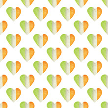 Seamless Pattern With Heart In...