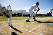 Cricket Players Training On Th...