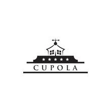Cupola Farm Logo Design Icon Vector Template