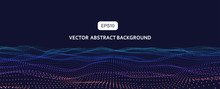 3D Abstract Vector Particle Wa...