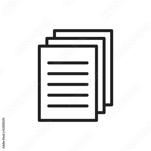 Fototapety, obrazy: Document icon template black color editable. Document icon symbol Flat vector illustration for graphic and web design.