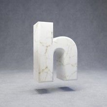 White Marble Letter H Lowercas...