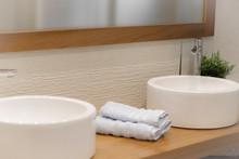 Bathroom Decoration With White...