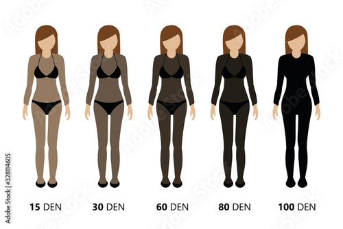 Fototapeta overview of the opacity of stockings vector illustration EPS10